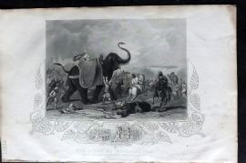 Tallis (Pub) 1853 Military Print. Siege of Mooltan, 1849. India